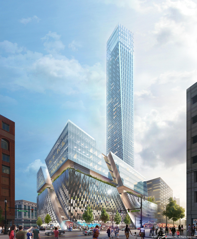 Bedrock Proposes Tallest Building In Detroit On Old Hudson