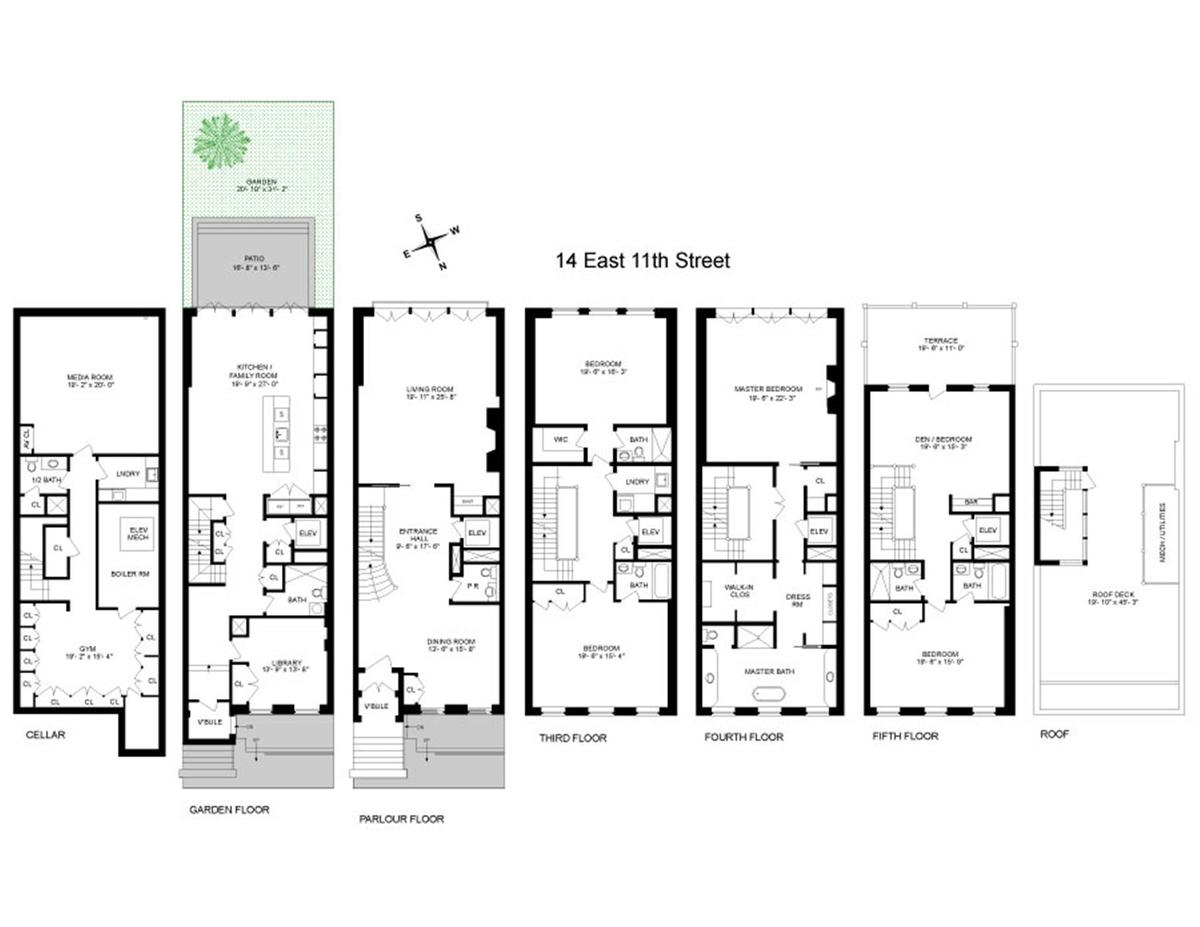 Nyc Townhouse Floor Plans: For $23.5M, An Enormous Greenwich Village Townhouse With