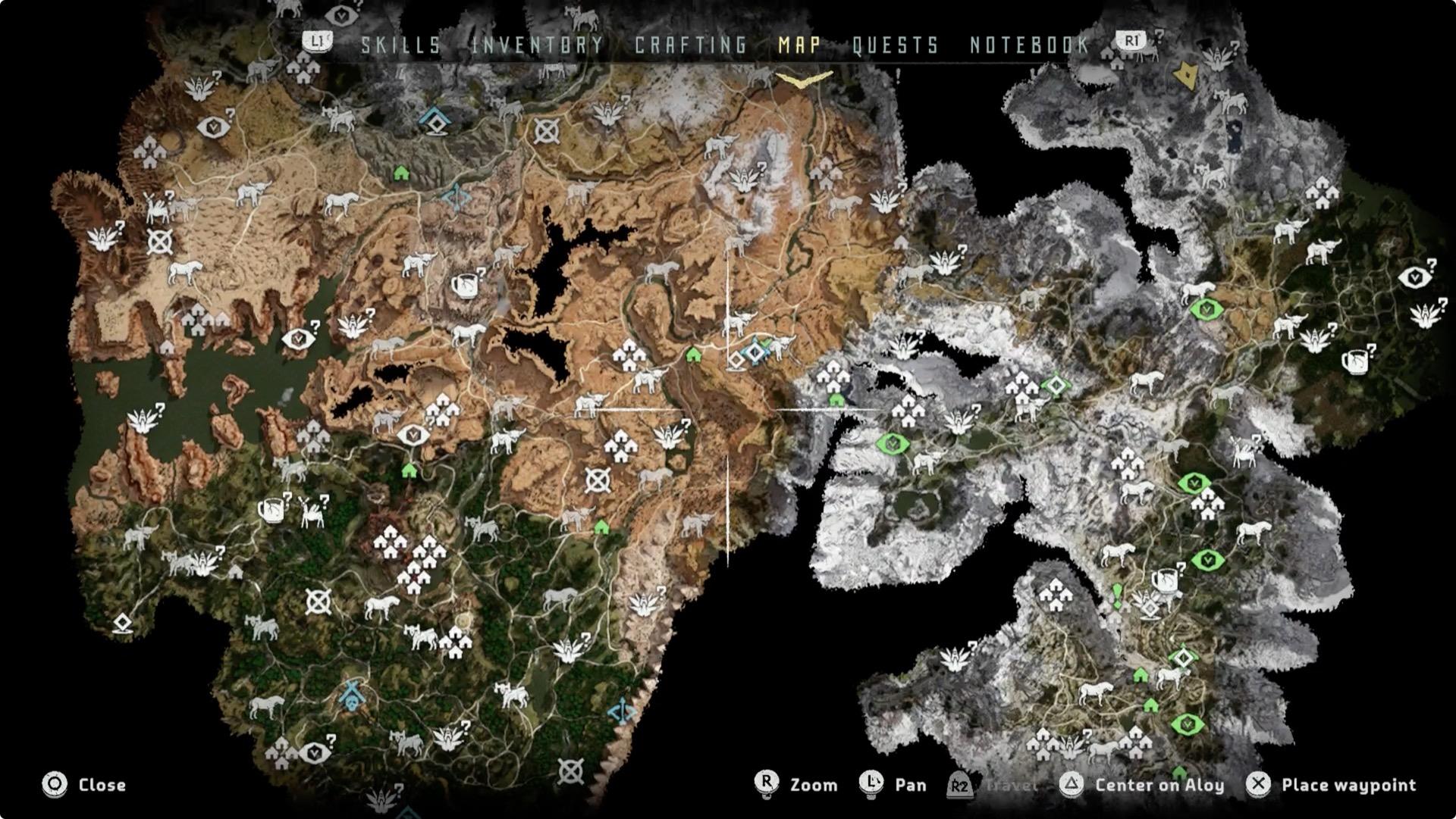 El mapa es lo suficientemente extenso como para mostrar todo tipo de ambientes y darnos horas de desplazamientos
