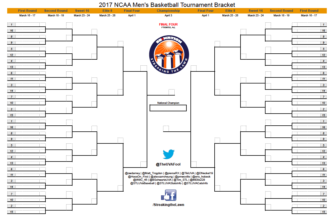 Crazy image within ncaa bracket printable blank