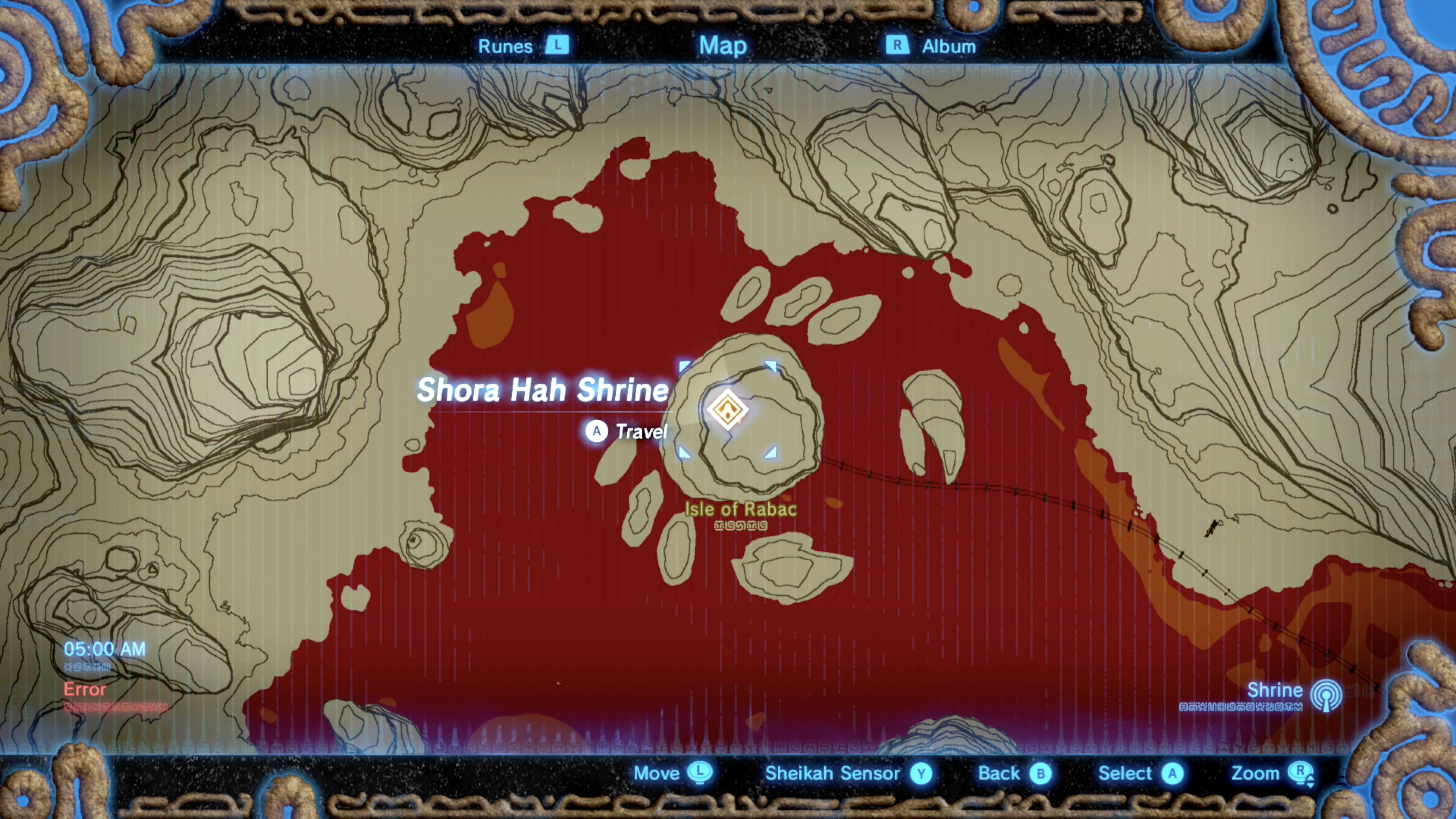 Zelda Breath of the Wild guide Shora Hah shrine location treasure