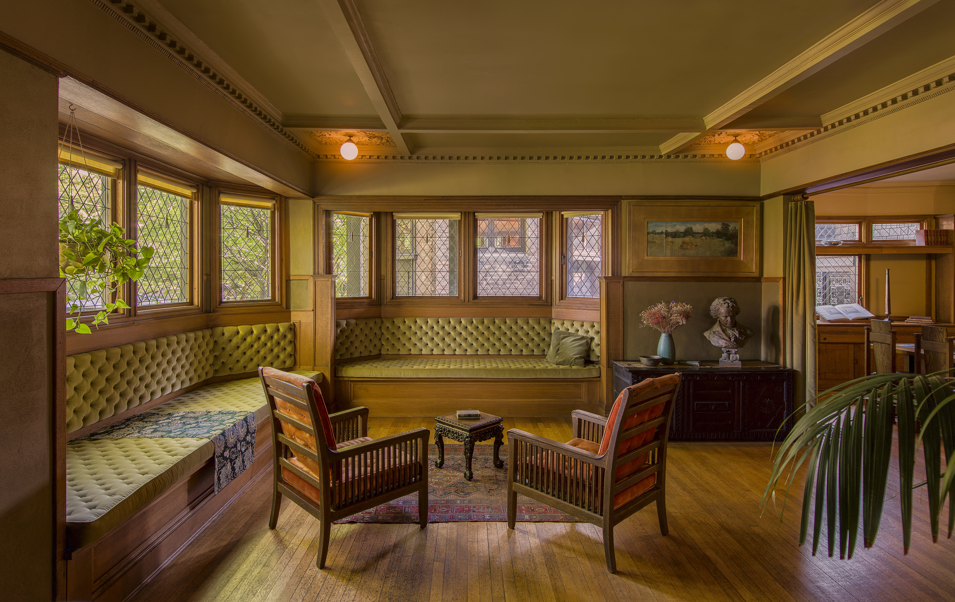 Home furnitures an interior design - Living Room Of Frank Lloyd Wright S Home In Oak Park