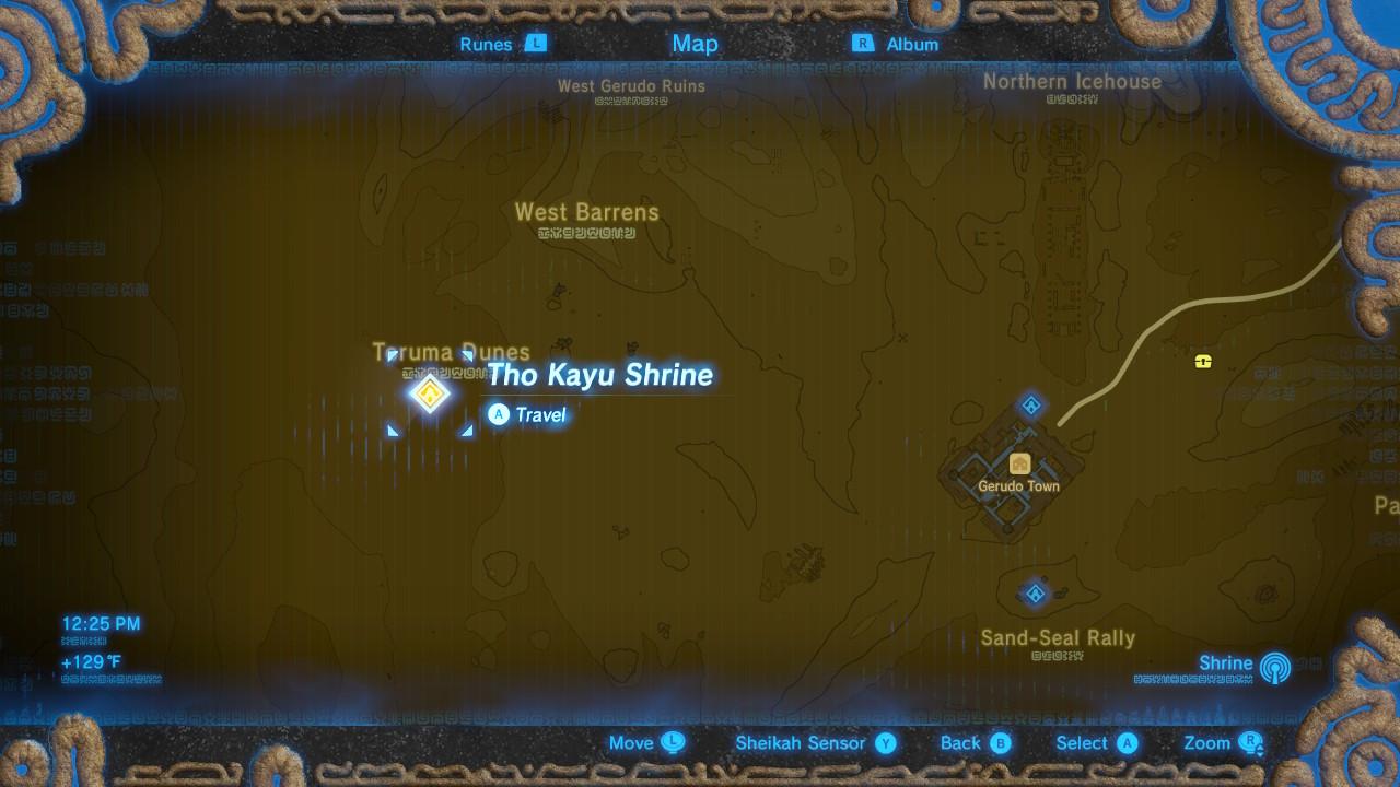 Zelda: Breath of the Wild guide: Tho Kayu shrine hidden location