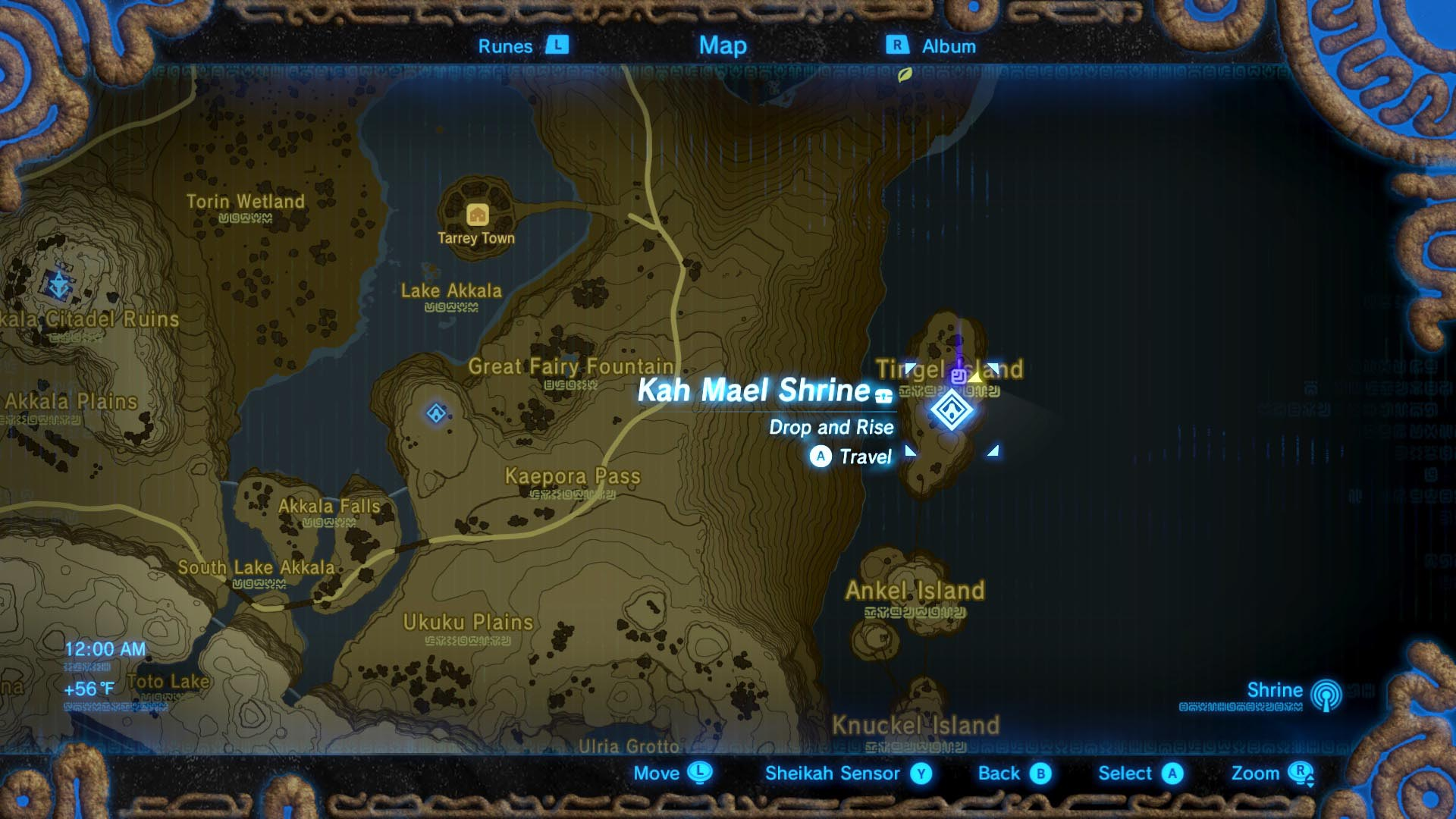 Zelda Breath of the Wild guide Kah Mael shrine location