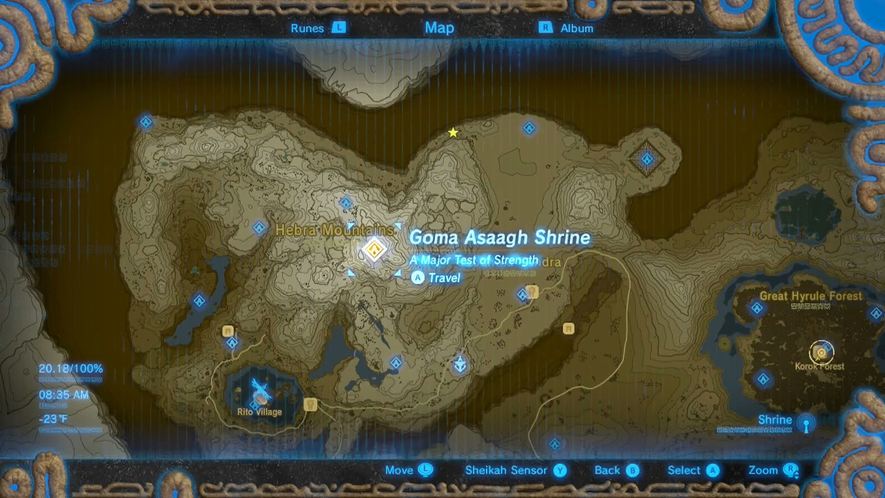 Zelda Breath Of The Wild Guide Goma Asaagh Shrine