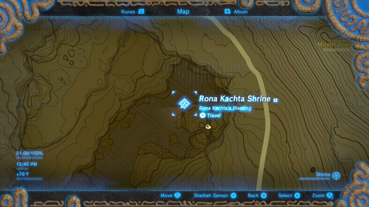 Breath Of The Wild Guide Rona Kachta Shrine And Forgotten
