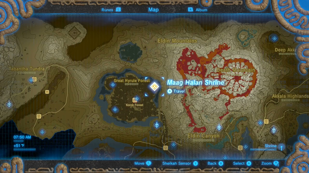 Zelda Breath Of The Wild Guide Maag Halan Shrine The Test Of Wood Shrine Quest Location Treasure And Puzzle Solutions Polygon