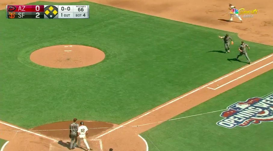 Buster Posey struck on helmet by pitch