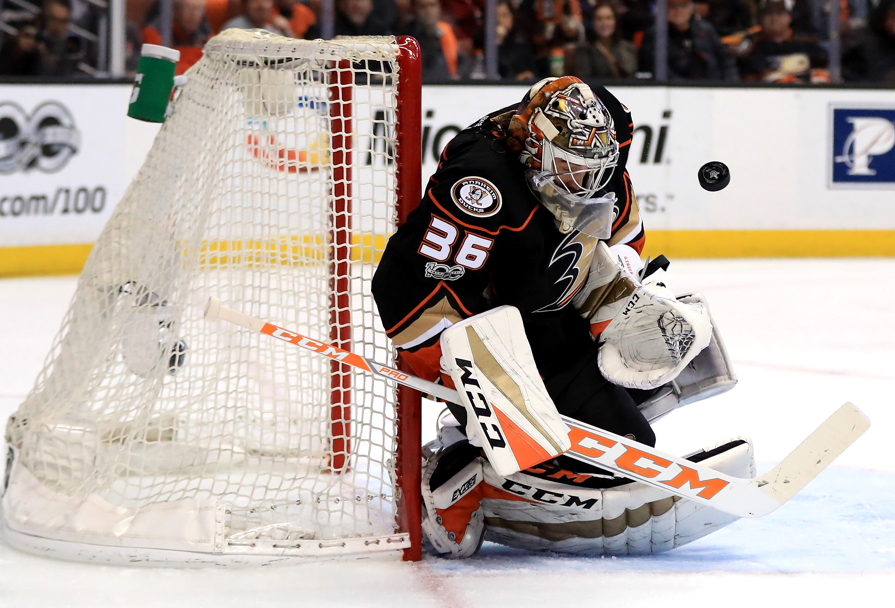 Ducks sweep away Flames with 3-1 win in Game 4