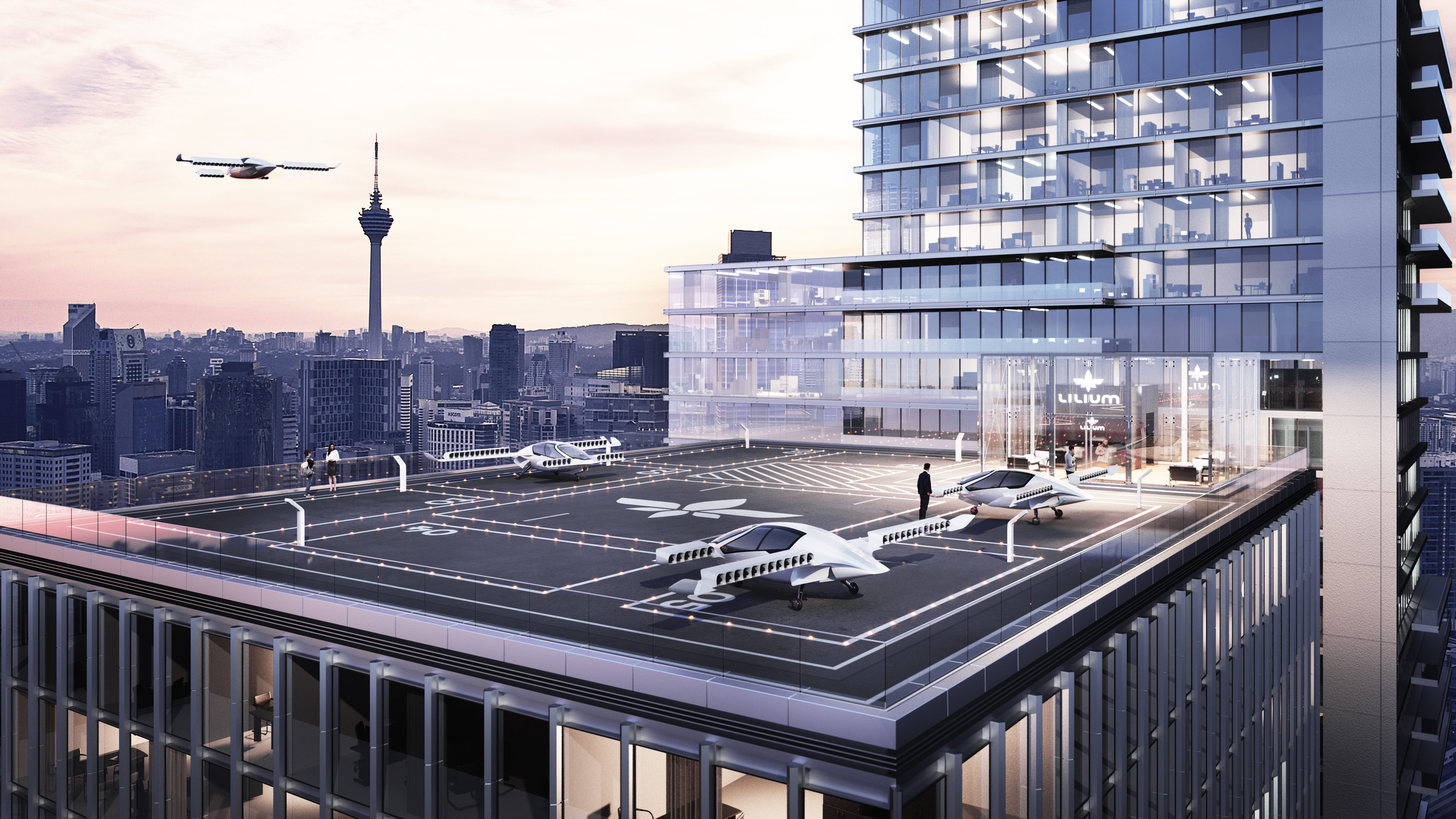 Germany successfully tested the first flying electric car 39