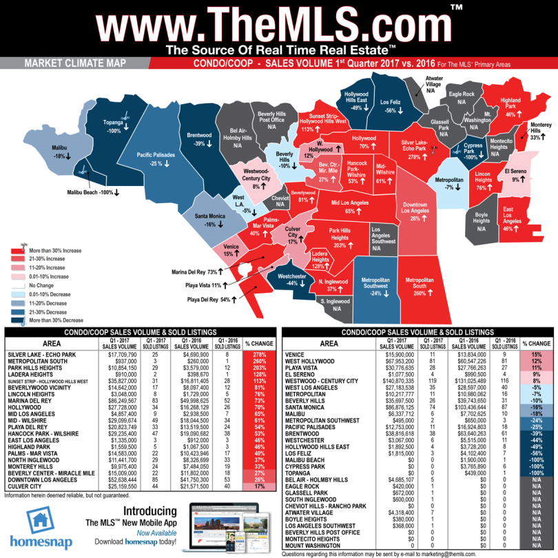 Map showing most popular rental areas