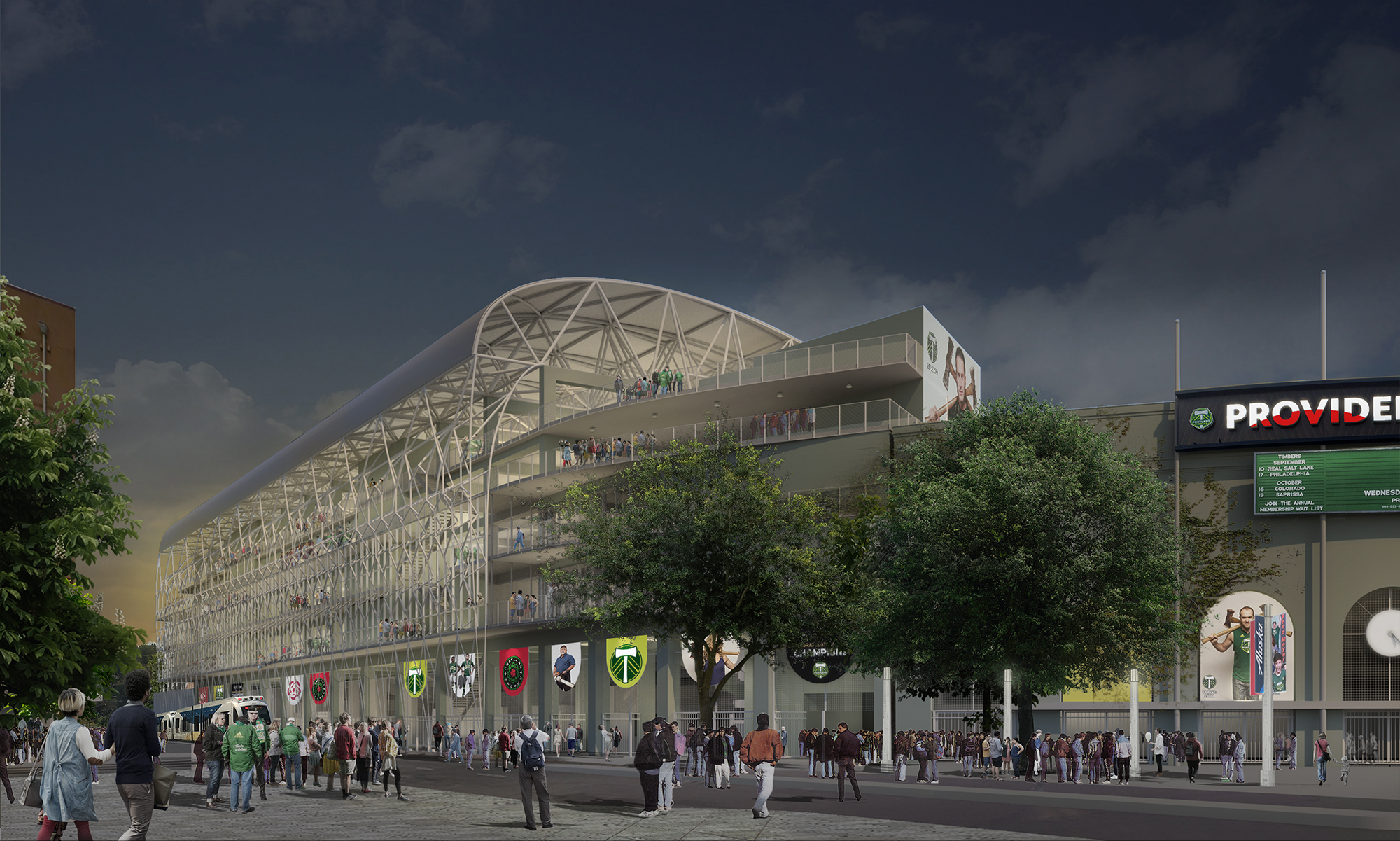 Timbers unveil plans for additional 4000 seats