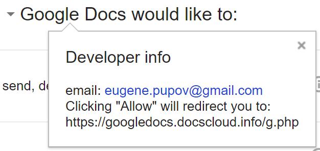 Gdocs Phishing attempt