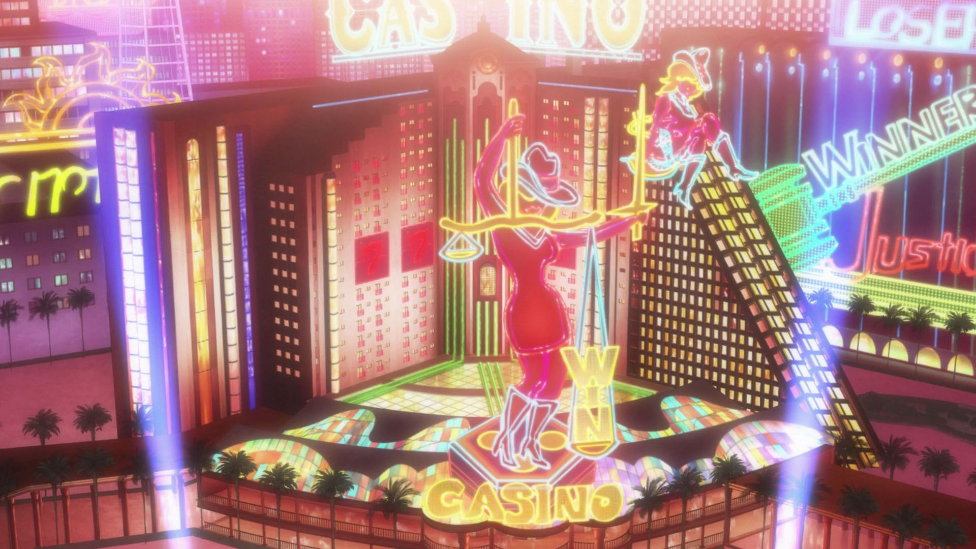 persona 5 casino green panel