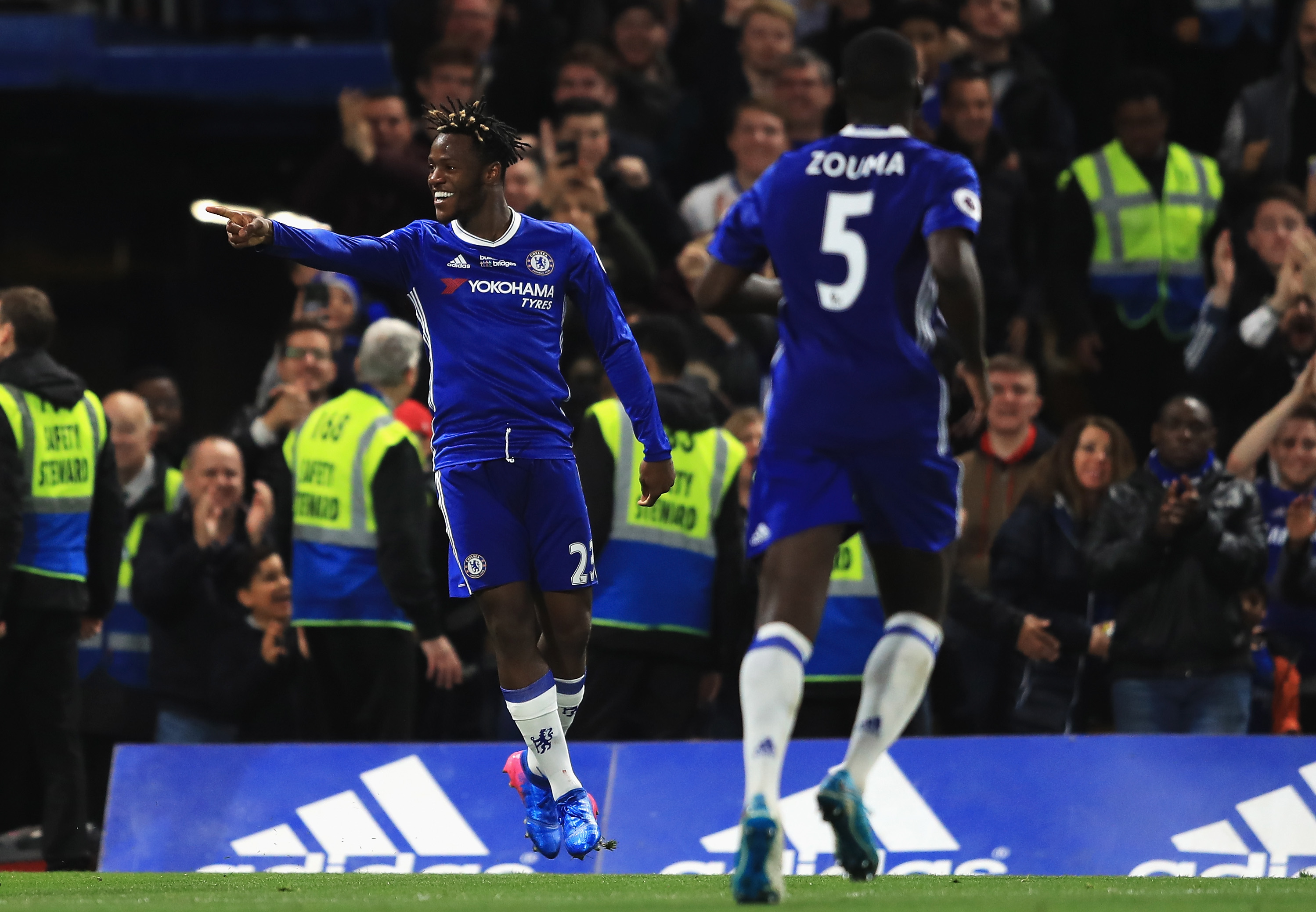 Nigeria's Ola Aina in action as Chelsea win seven-goal thriller