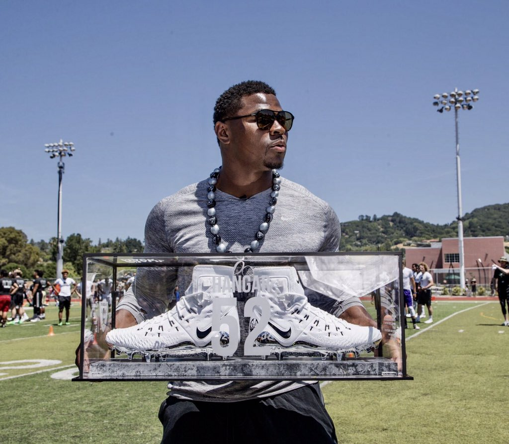 Check out these sick Khalil Mack cleats Silver And Black Pride