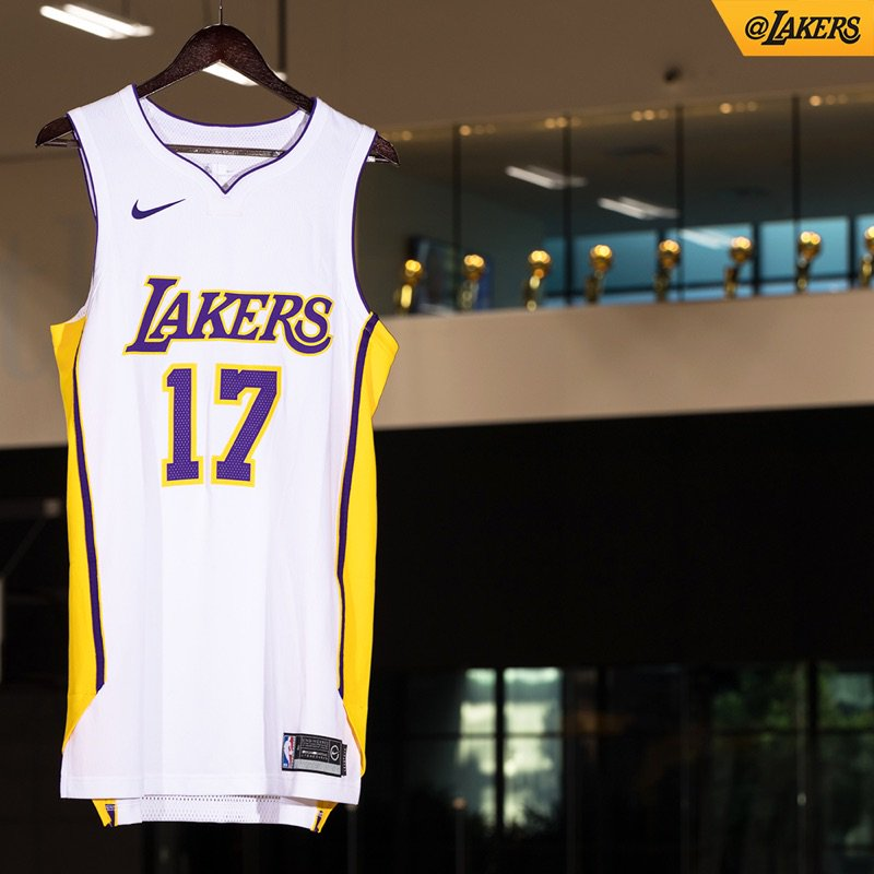 dbbddf557c3 Lakers officially unveil three of their new Nike jerseys - Silver ...