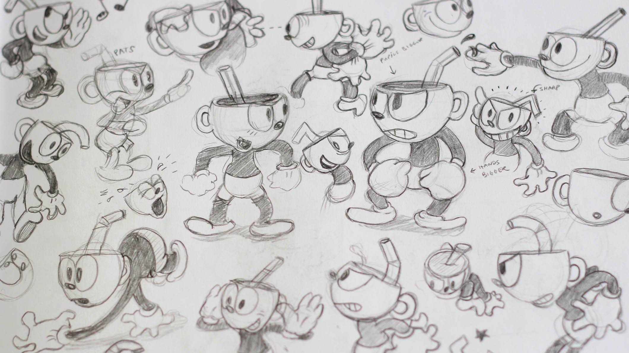 Line Drawing Styles : Cuphead creating a game that looks like s cartoon