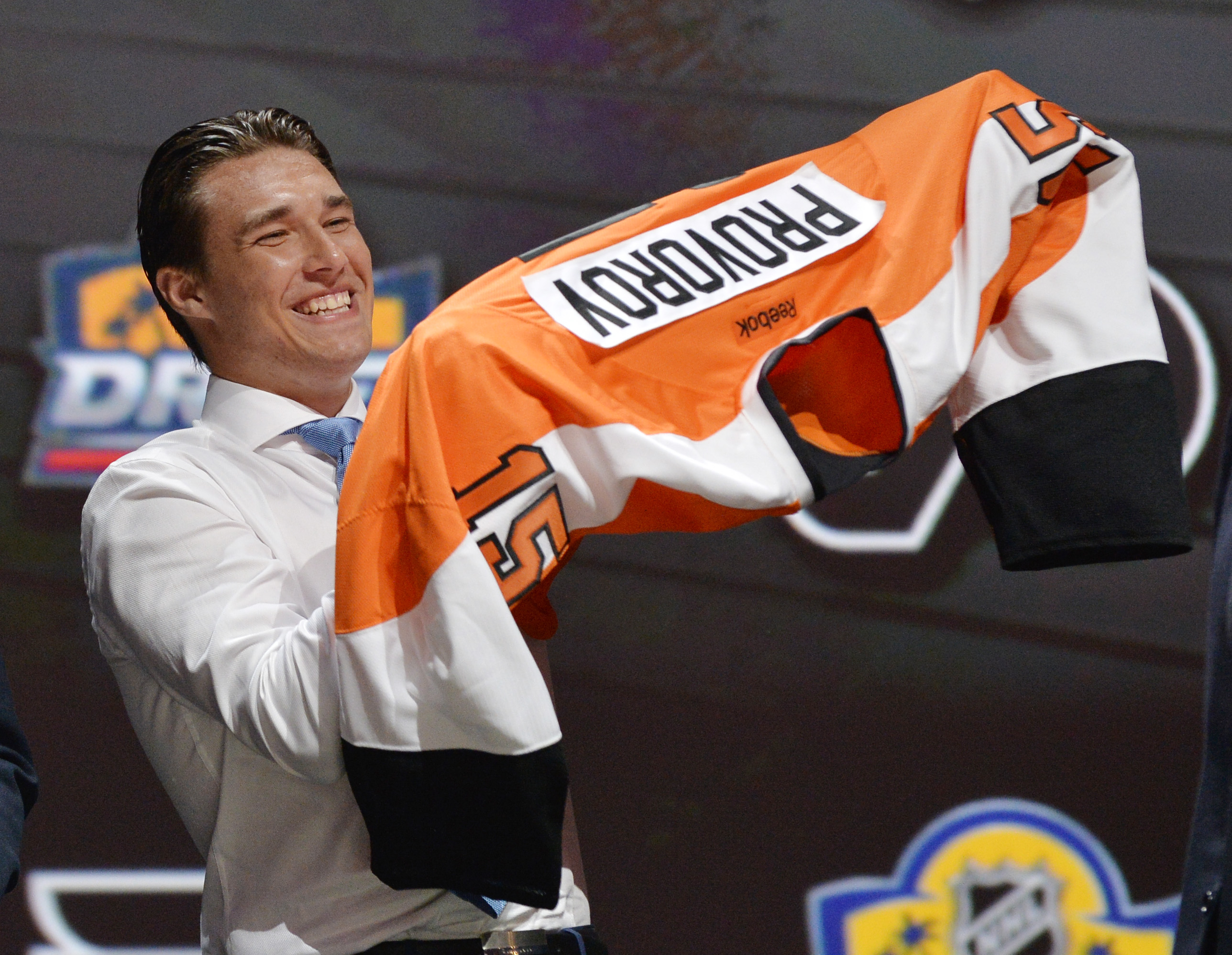 Ivan Provorov Ivan Provorov is SO DANG HAPPY about his new Flyers jersey
