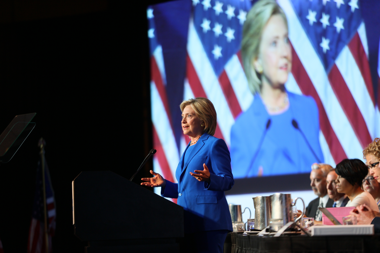 Hillary Clinton says things.